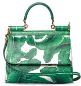 Dolce & Gabbana Sicily small banana leaf-print cross-body bag