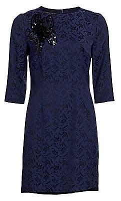 Etro Women's Beaded Floral Jacquard Shift Dress