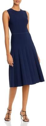 Narciso Rodriguez Pleated Knit Midi Dress