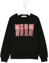 MSGM tassel logo sweatshirt - kids - Cotton - 4 yrs