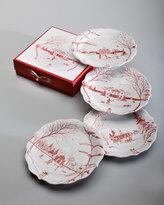 Juliska Ruby Winter Frolic Party Plates, Set of 4