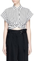 Alexander Wang Stripe twist front cropped shirt