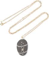 Cvc Stones Minerva 18-karat Gold, Stone And Diamond Necklace