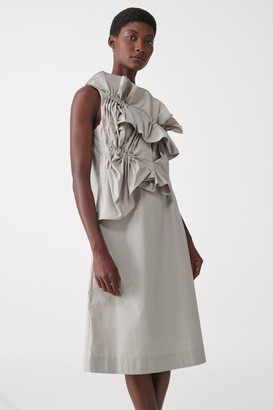Cos Organic Cotton Ruched Panel Dress