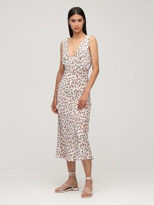 Ciao Lucia Caterina Print Silk Midi Dress