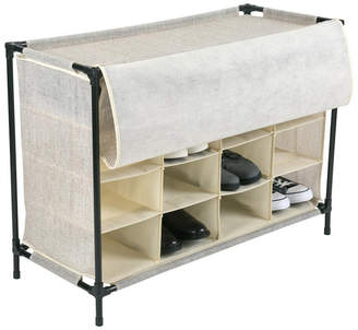 Simplify 16 Compartment Shoe Cubby in Faux Jute