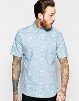 French Connection Short Sleeve Palm Print Shirt