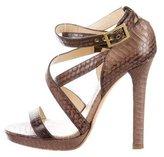 Jimmy Choo Python Multistrap Sandals
