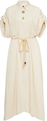 Nanushka Hanna Cotton-Twill Midi Dress
