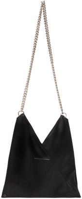 MM6 MAISON MARGIELA Black Faux-Leather Triangle Shoulder Bag