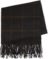 Topman Black And Brown Check Scarf