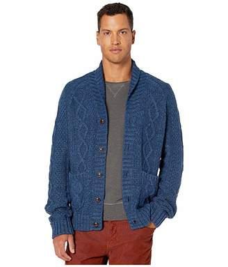 J.Crew Rugged Cotton Cable-Knit Shawl-Collar Cardigan Sweater