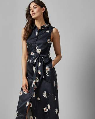 Ted Baker Praline Shirt Midi Dress