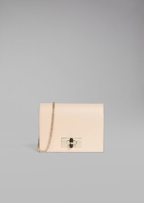 Giorgio Armani Borgonuovo 11 Smooth Leather Wallet With Chain