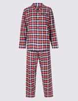 M&S CollectionMarks and Spencer Big & Tall Brushed Cotton Checked Pyjama Set