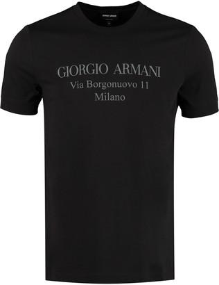Giorgio Armani Crew-neck Cotton T-shirt