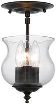 Crystorama English Bronze Three-Light Semi-Flush Ceiling Light