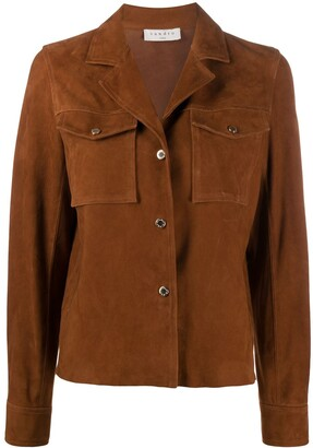 Sandro Suede Boxy Fit Jacket