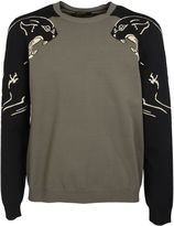 Valentino Panther Print Sweater