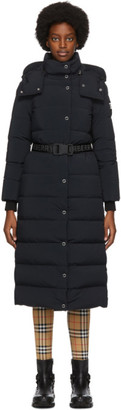 Burberry Black Puffer Belted Eppingham Coat