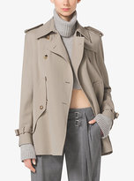 Michael Kors Wool-Gabardine Trench Cape