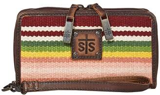 STS Ranchwear Buffalo Girl Serape Kacy Organizer (Maroon/Pink/Green) Bags
