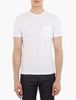 Officine Generale White Cotton Pocket T-Shirt