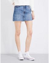 Levi's Deconstructed mid-rise denim skirt
