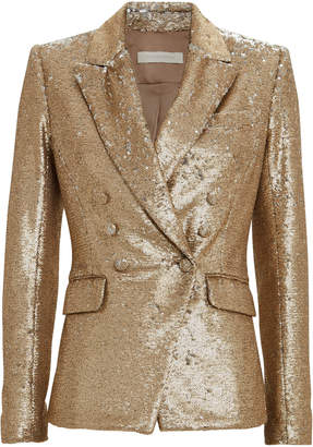 Jonathan Simkhai Double Breasted Sequin Blazer