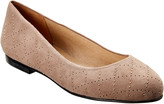 French Sole Rosa Suede Flat