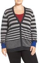 Sejour Wool & Cashmere V-Neck Cardigan (Plus Size)