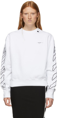 Off-White Off White White Abstract Arrows Oversized Hoodie