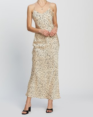 Dazie - Women's Neutrals Midi Dresses - Riviera Slip Dress - Size 8 at The Iconic