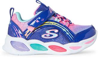 Skechers Toddler Girls) Blue Shimmer Beams Light-Up Sneakers