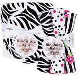 Trend Lab Baby Bouquet Set - Black and White Zebra - Hooded Towel and Wash Cloth by