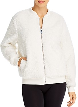 Aqua Athletic Sherpa Faux Fur Bomber Jacket - 100% Exclusive