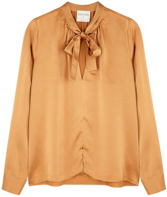 Forte Forte Caramel silk-satin blouse