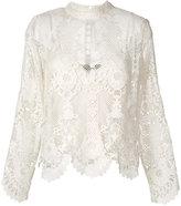 Twin-Set longsleeved macramé blouse - women - Spandex/Elastane/Viscose - 38