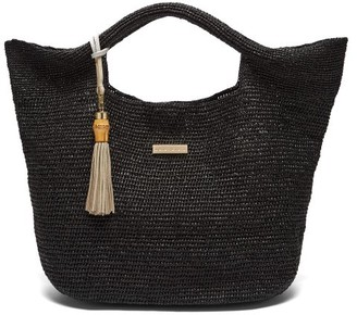 Heidi Klein Grace Bay Medium Raffia Basket Bag - Womens - Black
