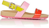 Fendi Women's Colorblocked Double-Band Sandals-BERRY