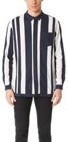 White Mountaineering Contrast Stripe Long Shirt
