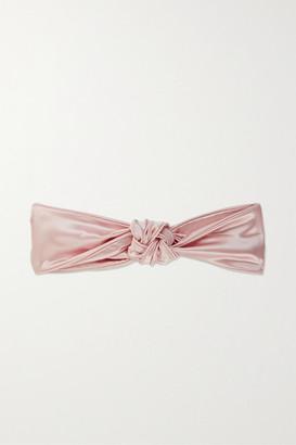 Slip Knot Silk Headband - Pastel pink