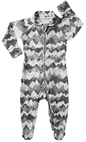 Bonds Baby Spot On Mountain Zip Sleepsuit, Grey/White