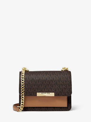 MICHAEL Michael Kors Jade Extra-Small Logo and Leather Crossbody Bag