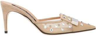 Sergio Rossi Embellished Pointed Sandals