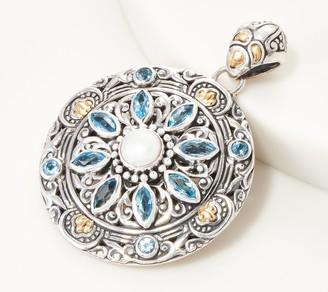 Artisan Crafted Sterling & 18K Gemstone Medallion Pendant