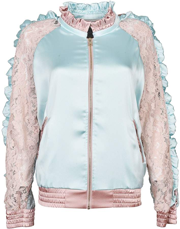 Couture Forte Floral Lace Bomber