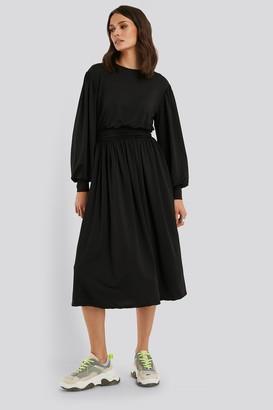 NA-KD Gathered Waist Jersey Dress