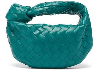 Bottega Veneta The Jodie Mini Intrecciato-leather Clutch Bag - Dark Green