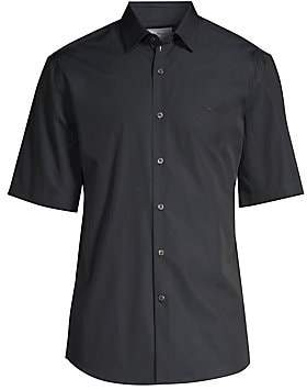 Salvatore Ferragamo Men's Short Sleeve Sports Shirt